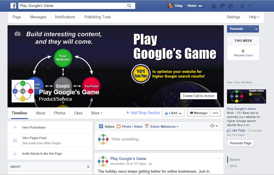 Facebook Business Page Call To Action Button - Play Google's