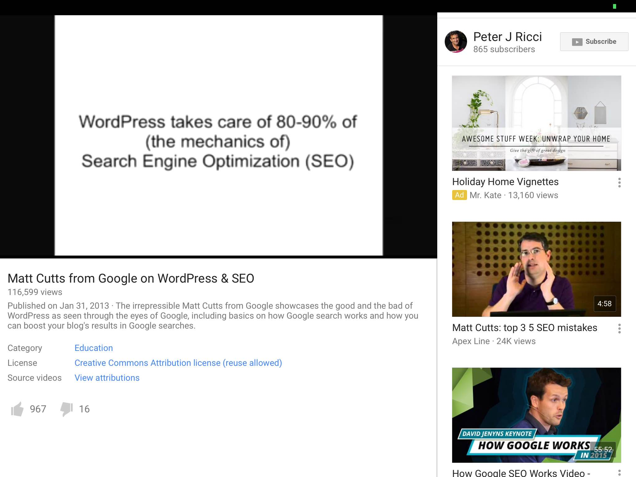 wordpress matt cutts