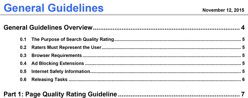 google search quality evaluator