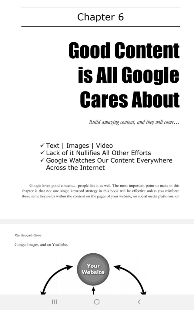 website content for google ranking